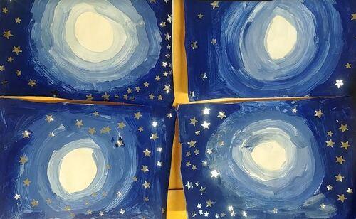 [arts plastiques] nuit étoilée