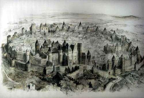 """Le rapport concernant les vestiges se trouvant sous la Cité de Carcassonne, intitulé """" Carcassonne. """" L'Histoire avec un grand H """", 11 août 2014. (Albert Fagioli)"""