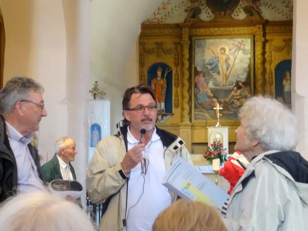 Avec la SAHC visite de l'église de Saint-Germain le Rocheux et du Fanum du Tremblois...