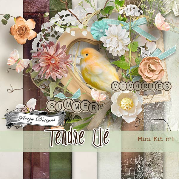 Tendre Ete { Mini kit 1 PU } by Florju Designs