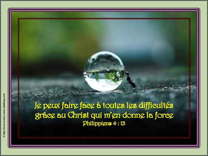 Dieu me donne la force face aux difficultés - Philippiens 4 : 13