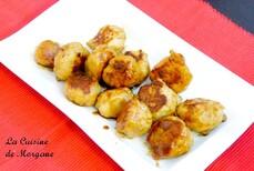 Boulettes de poulet au miel et soja