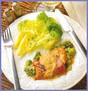 40 fricasse de poulet aux brocolis
