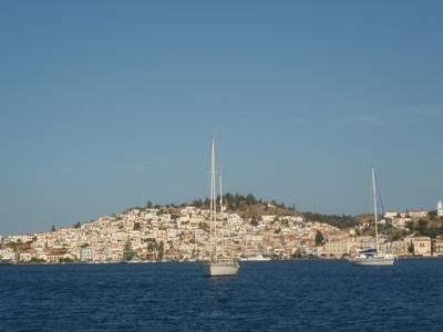 Premier coup de vent à Poros