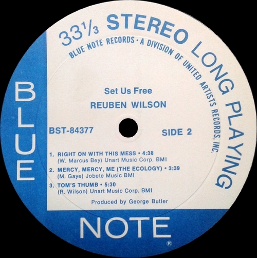 "Reuben Wilson : Album "" Set Us Free "" Blue Note Records BST-84377 [ US ]"