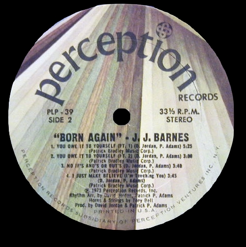 "J.J. Barnes : Album "" Born Again "" Perception Records PLP 039 [ US ]"