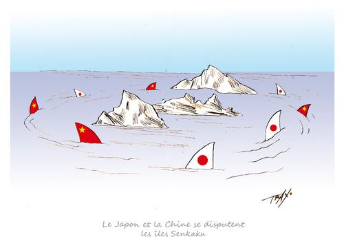 Japon Chine îles Senkaku requins