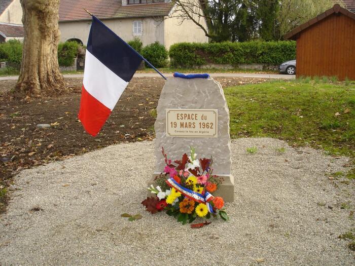 Sur la route des 8000 lieux et liens du 19-Mars-1962 aujourd'hui à BARESIA-SUR-AIN (Jura)