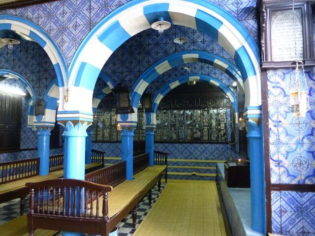 Intérieur de la Synagogue de la Ghriba