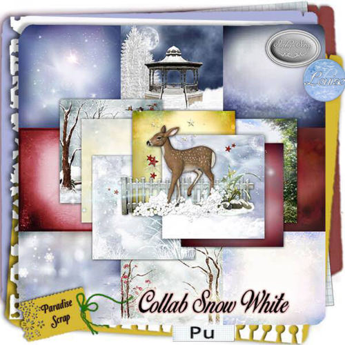 "Collab "" Snow White"" by Louise L & Stephy Scrap"