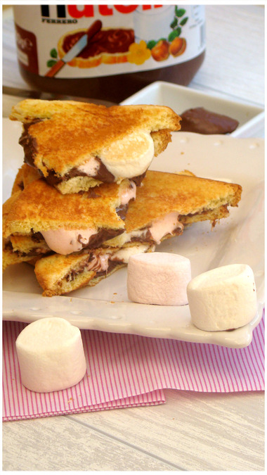 CROQUE MONSIEUR NUTELLA ET CHAMALLOWS
