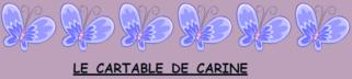 Promenons-nous de blog en blog - Découvrez Le cartable de Carine !