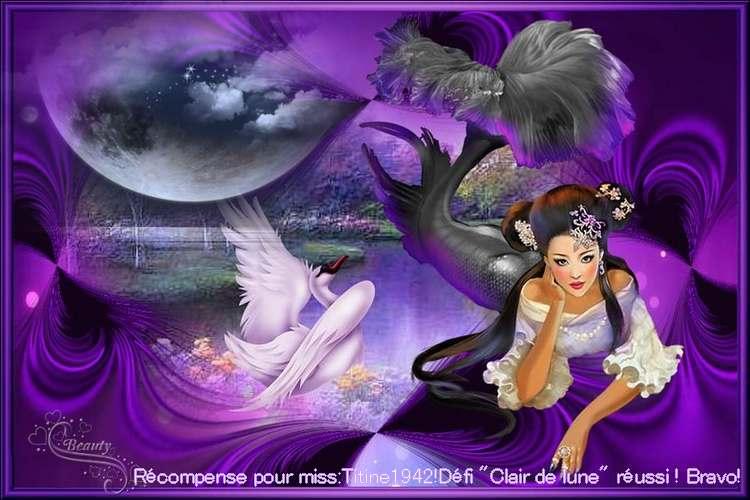 """Ma tite Sissi chérie, ta récompense pour le défi """"Clair de lune"""" ICI**Bravoooo***"""