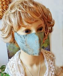 Masques coton teintes bleues