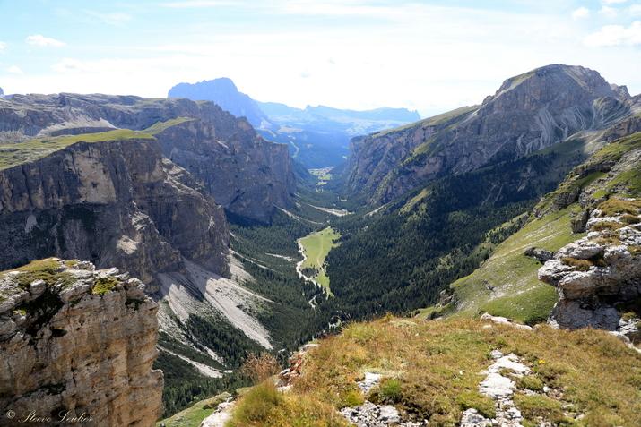 Trek dans les Dolomites, Massif de Puez, Italie