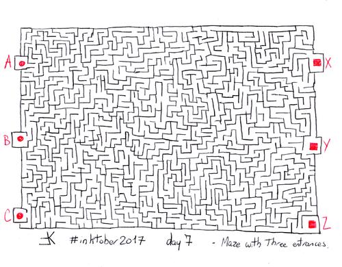 Inktober 2017 : 7/31 - Labyrinthe