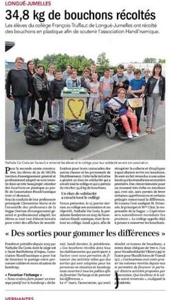 Article paru sur le Courrier de l'Ouest édition Saumur le  06/06/18