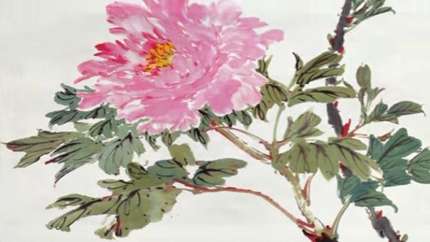 Dessin et peinture vid o 1881 comment peindre une fleur de pivoine peinture chinoise - Rouge comme une pivoine ...