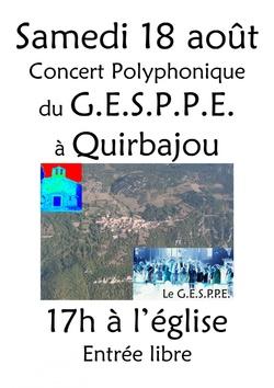 Samedi 18 août 2012 - Concert GESPPE Quirbajou