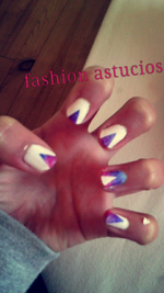 Nail art manucure facile galaxie