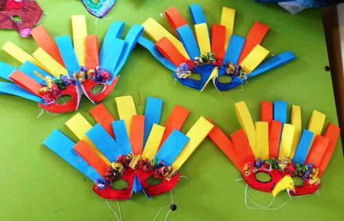 Les masques-oiseaux de carnaval