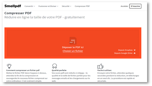 Compresser des fichiers PDF