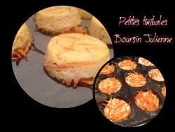 petites timbales Boursin Julienne