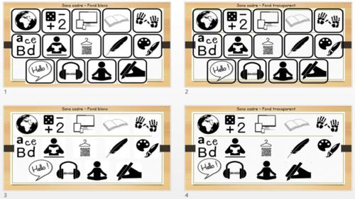 Etiquettes du tableau de programmation