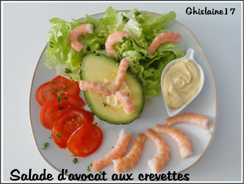 Salade d'avocat aux crevettes