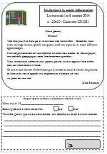 Lettre d'invitation pour la réunion d'information de début d'année