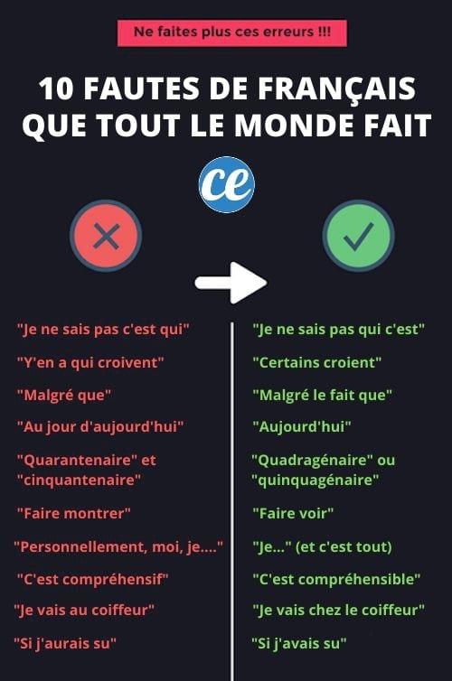 10 fautes de français...