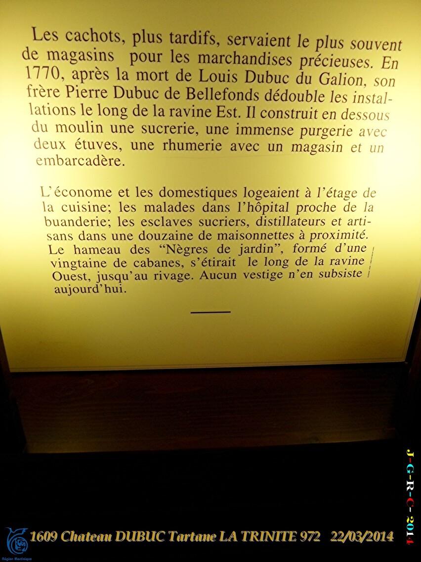 VACANCES MARTINIQUE Ruines du château DUBUC 1/4  Mars Avril 2014 07/10/2014