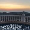 levé de soleil dans la piscine ♡