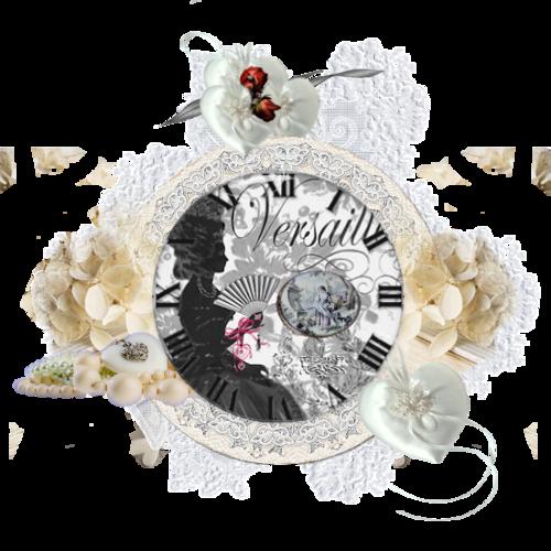 Horloge baroque vintage Versailles servez-vous