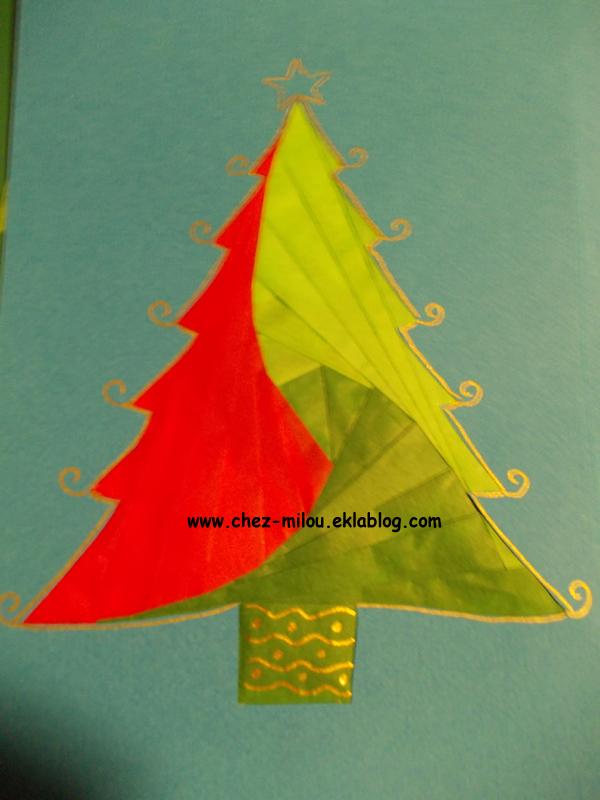 Sapin De Noël En Pliage De Papier Chez Milou