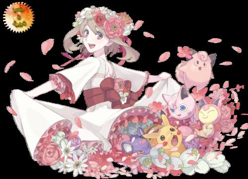 Render - Flora & Pikachu & Rattata & Rondoudou & Melofée & Skitty [1]
