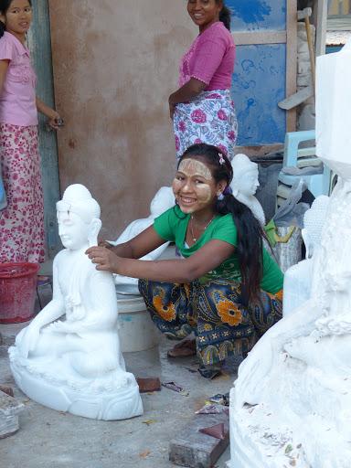 atelier de sculpture de marbre