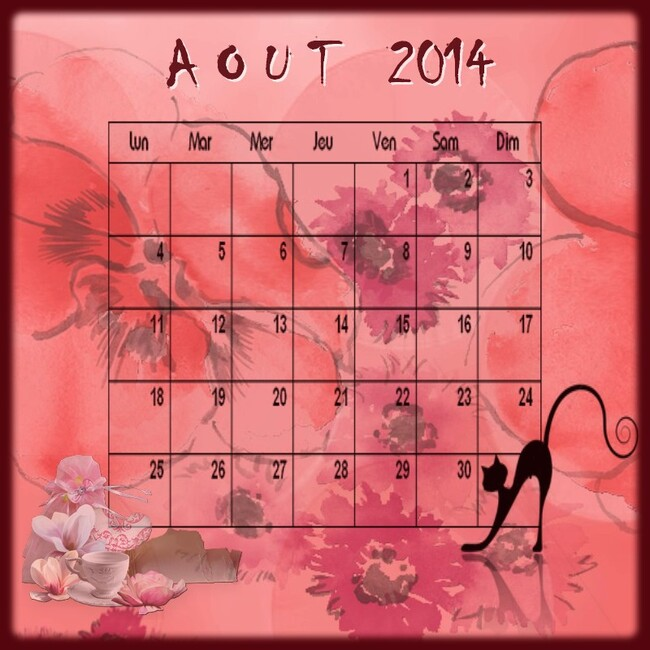 CALENDRIER AOUT 2014