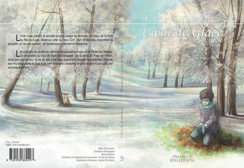 Découvrez la couverture de Coeur de Glace de Gaëlle K. Kempeneers  @SemaEditions