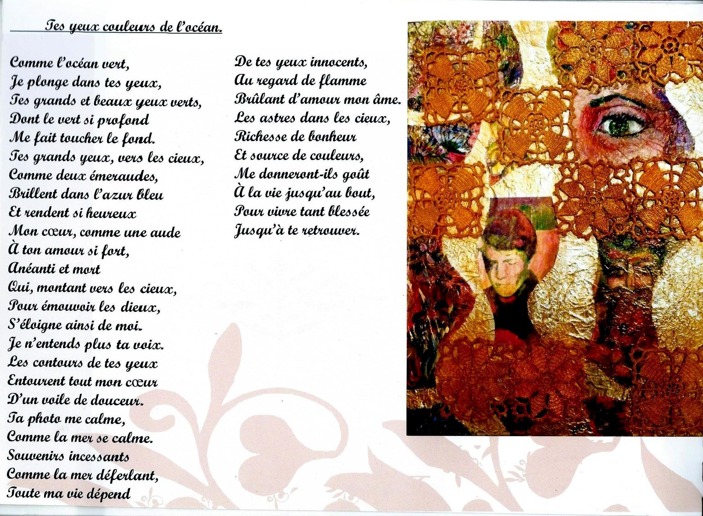 Souvenirs De Beaux Yeux Verts Et Son Poème Kateartblue