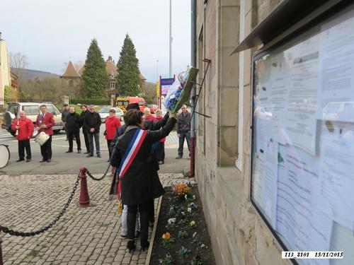 *  cérémonie du 71ème anniversaire de la Libération de Champagney.