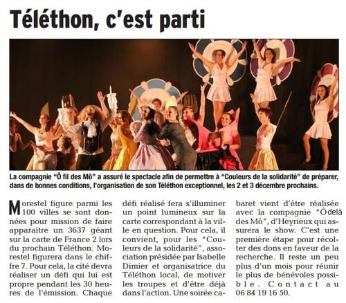 Article du Dauphiné Libéré du 19 octobre 2016