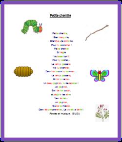 Comptines et poésies - la chenille