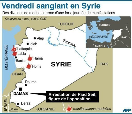 Syrie carte combats
