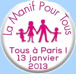 """""""Manif pour tous"""" - Dimanche 13 janvier 2013 à Paris"""