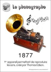 invention du phonographe