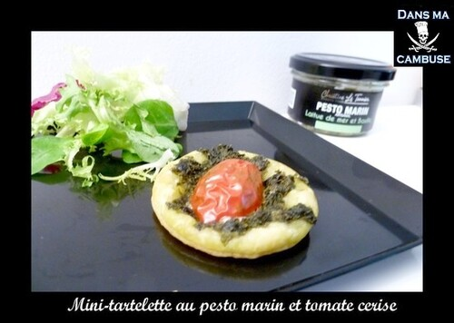 Mini-tartelettes au pesto marin et tomates cerises