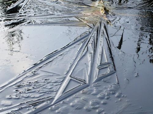 Mares et bassins gelés