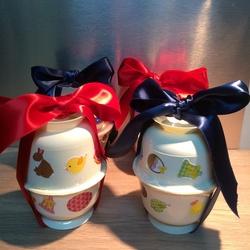 Oeuf de Pâques garni à offrir (récup coupelles)