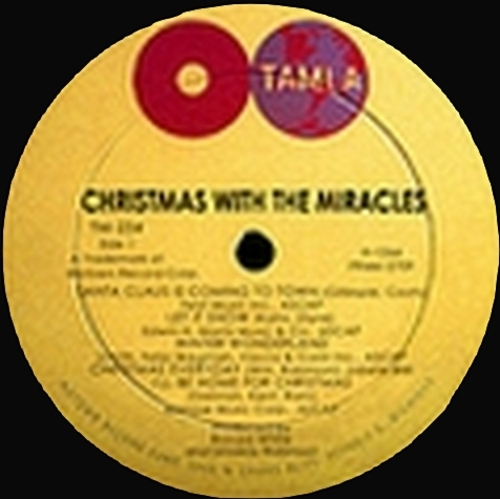 "The Miracles : Album "" Christmas With The Miracles "" Tamla Records TM 236 [ US ]"